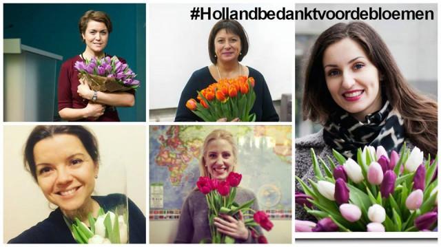 Акция проходит под лозунгом «Нидерланды, спасибо за цветы!» и приурочена к голландскому референдуму