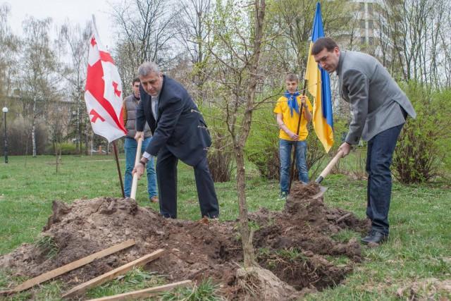 На открытии присутствовал посол Грузии в Украине