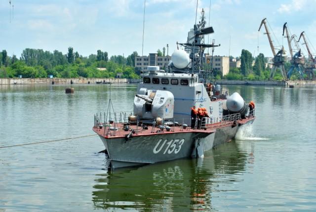 Катер Военно-Морских Сил Вооруженных Сил Украины после ремонта проходил испытания в Николаеве