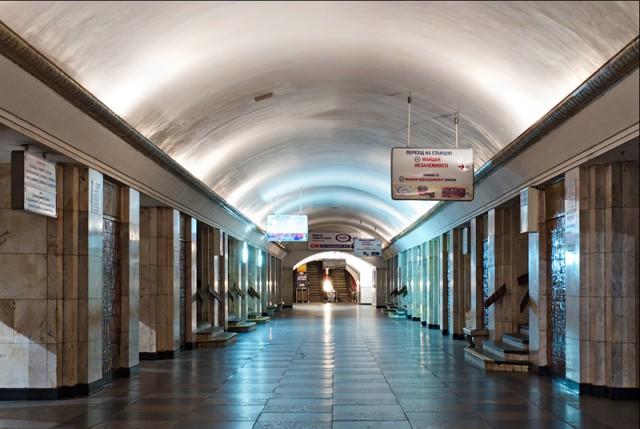 Один из входов на станцию закрыт на выход