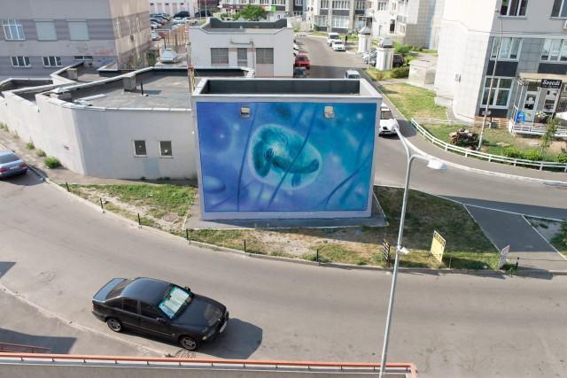 Украинский художник создал яркий мурал