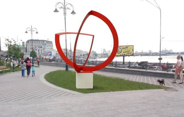 """Скульптура называется """"Яблоко"""""""