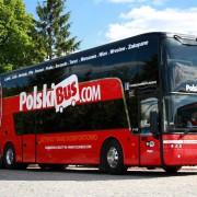 Польский автобусный лоукостер заходит в Украину