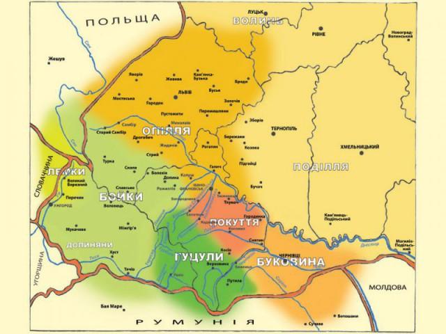 Карта из Национального музея народной архитектуры и быта Украины (Киев, с. Пирогов). Источник фото: etnoua.info.