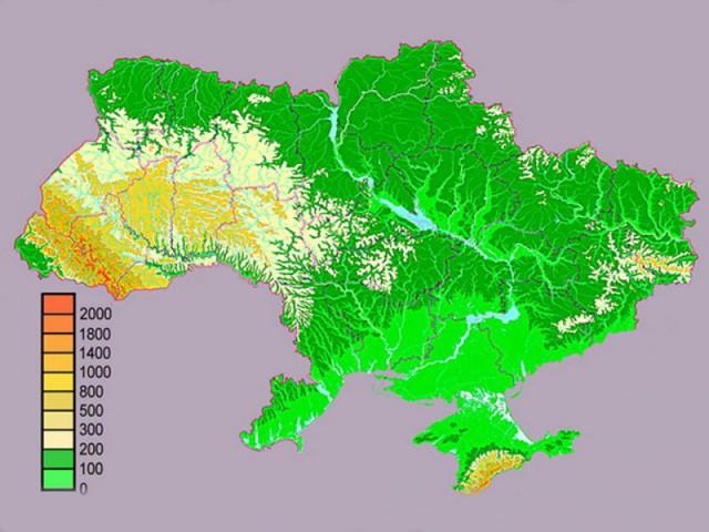 Рельеф Украины. Источник фото: etnoua.info.