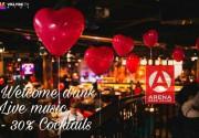 14 февраля в Arena Beer House ты найдешь все, что так важно для самого романтического праздника