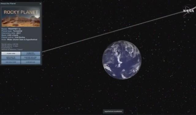 Одна из найденных планет. Скриншот