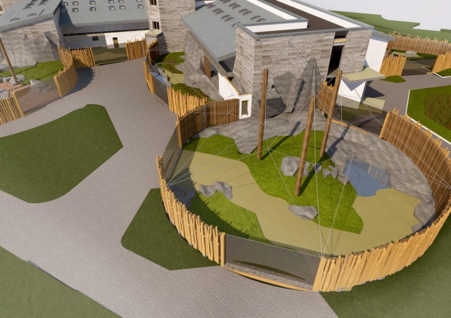 Изгородь. Новый дворец для мартышек будет окружен забором