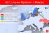 Направления Ryanair из Киева