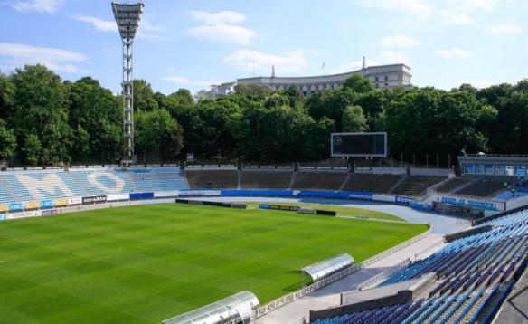 На стадионе «Динамо» имени Валерия Лобановского проводится капитальный ремонт