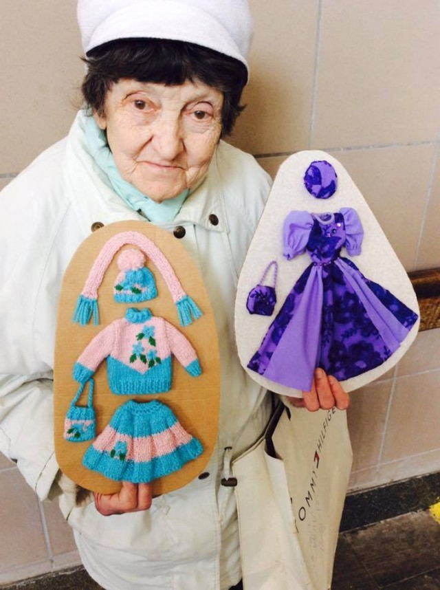 Бабушка Таня начал шить наряды в 1993 году, для кукол внучки. Фото: facebook.com