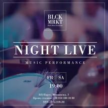 Лаунж, джаз-фанк и соул на вечерах живой музыки в ресторане Black Market