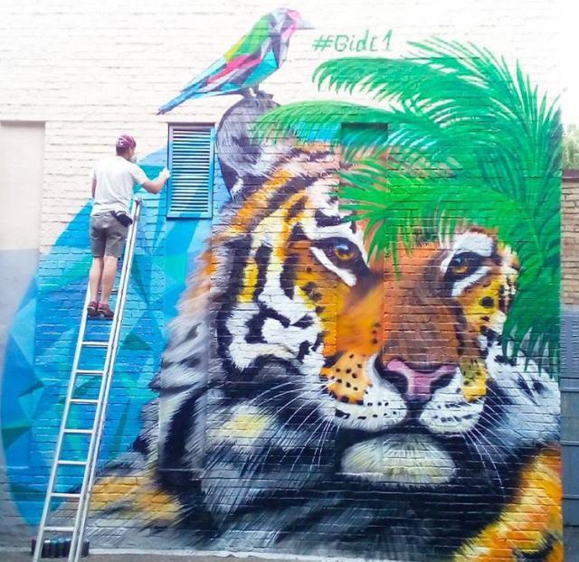 Фото: тигр на Печерске (Виталий Гидеван)