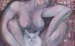 В галерее «Ню Арт» открылась выставка Николая Соколова «Город и кошки»