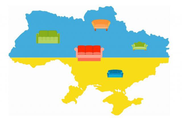 Мебельная карта Украины. Самые популярные производители мягкой мебели