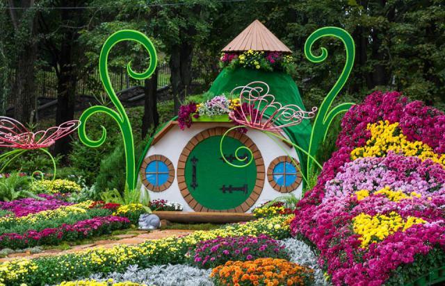 На Певчем поле открылась грандиозная выставка хризантем (ФОТО)