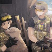 В Киеве проходит выставка японской художницы, которая рисует украинских военных