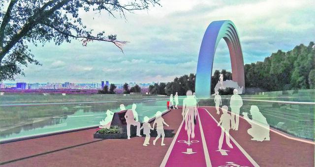 Проект. Прогуляться по новому мосту можно будет от арки Дружбы народов.