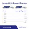 Новый график сдвоенных Kyiv Boryspil Express