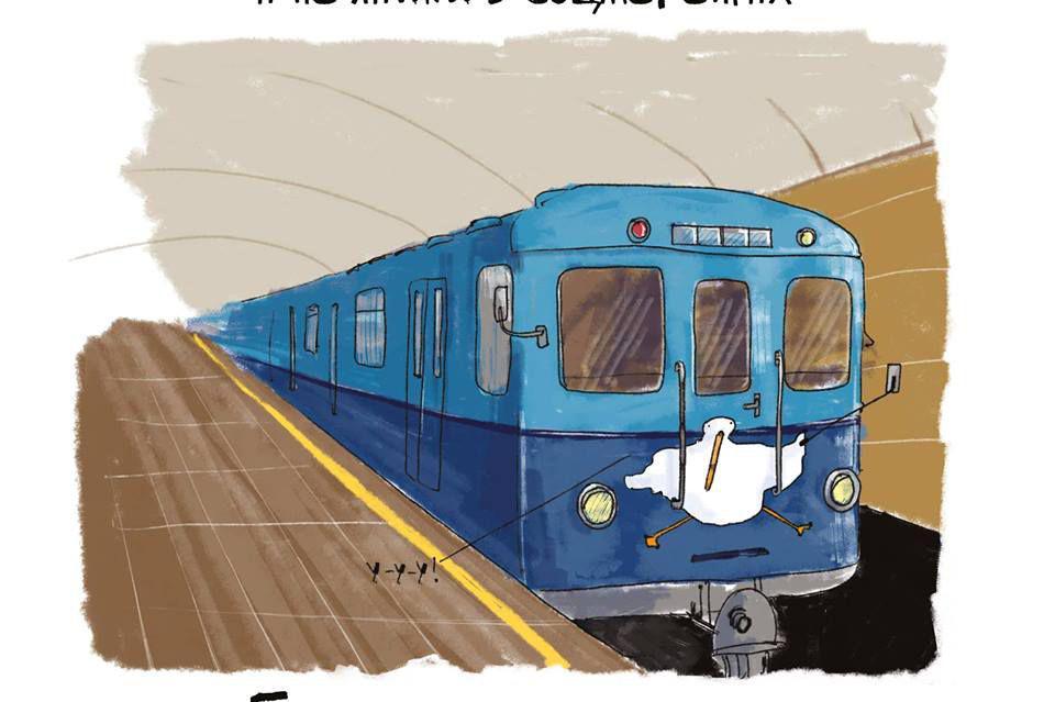 Береги голову, а не лайки: в метро появились правила поведения от Гуся