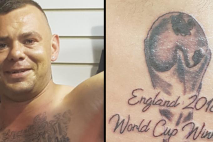 А что ты знаешь о неудачах: британец сделал тату «Англия - победитель ЧМ 2018»