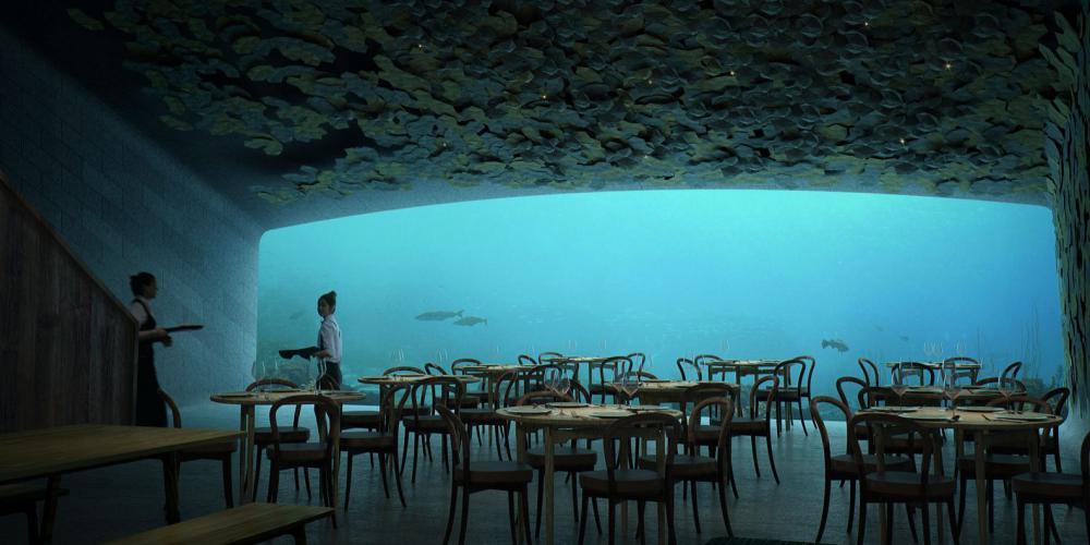 Как выглядит первый в Европе ресторан под водой