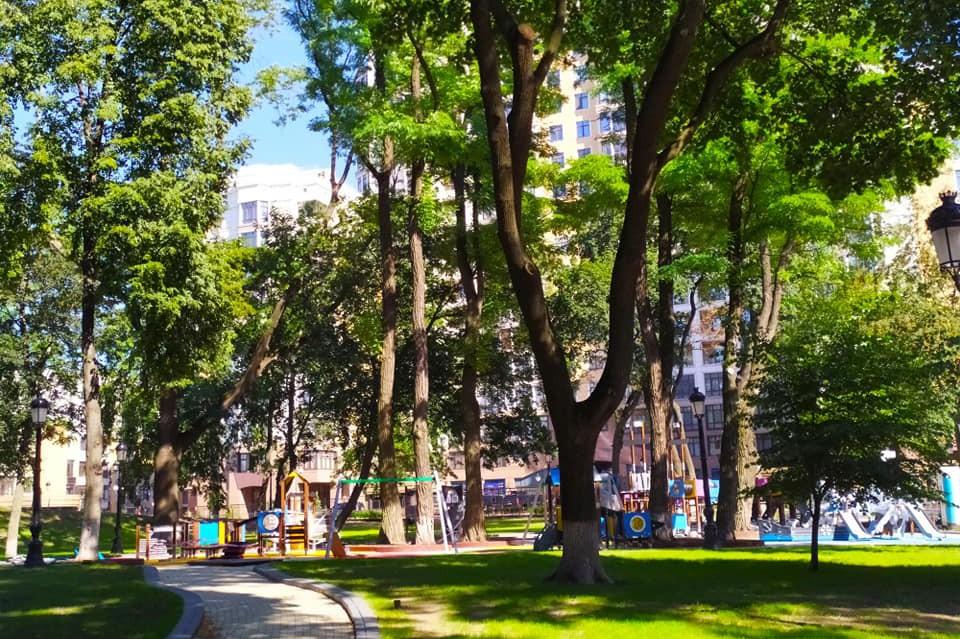 В Мариинском парке завершают обустраивать новую детскую площадку: фото