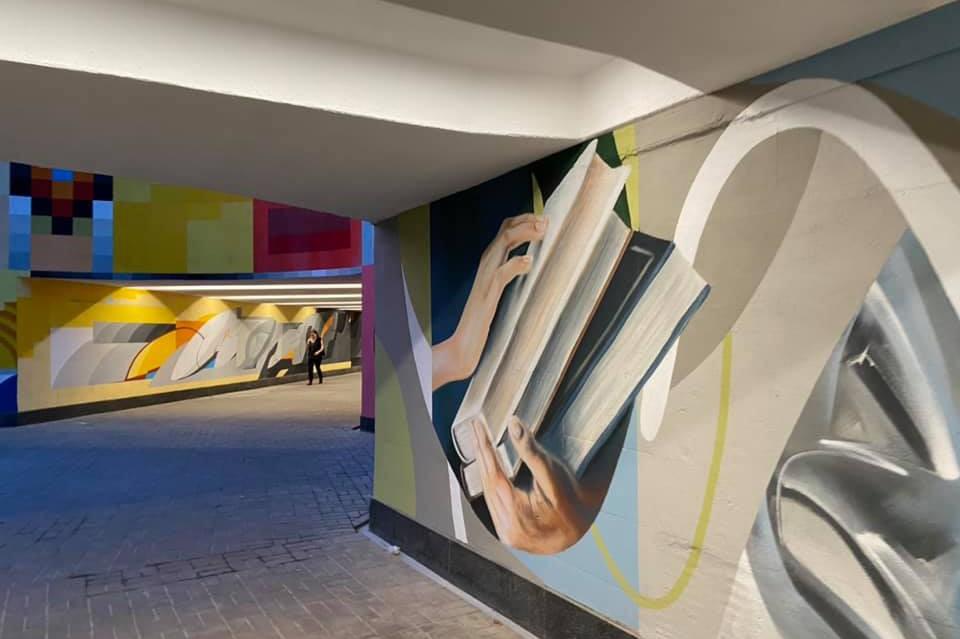 В Киеве на проспекте Науки открыли красочный подземный переход. Фото