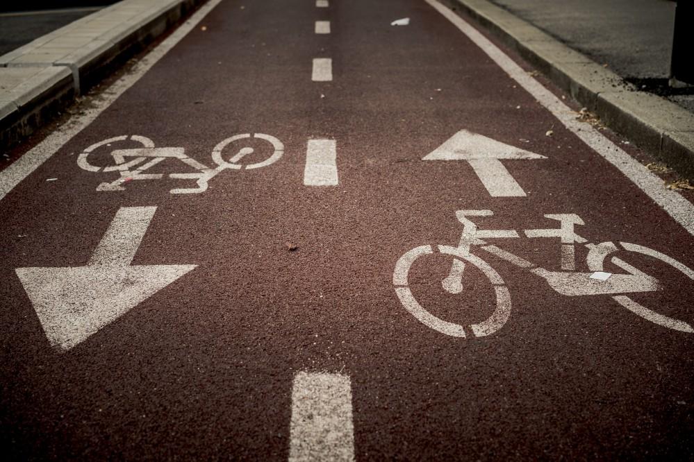 В центре Киева появилась новая велодорожка. Фото