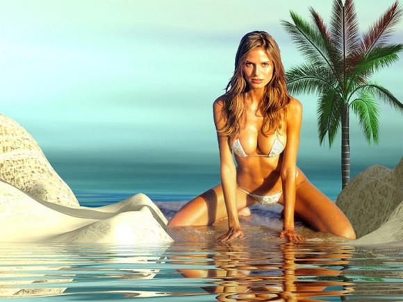 Хайди Клум разделась на испанском курорте